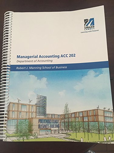 9781308113487: Managerial Accounting ACC 202 - UMASS Lowell