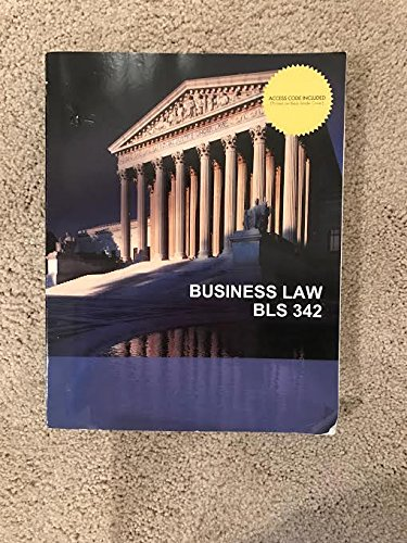 9781308116174: Business Law BLS 342