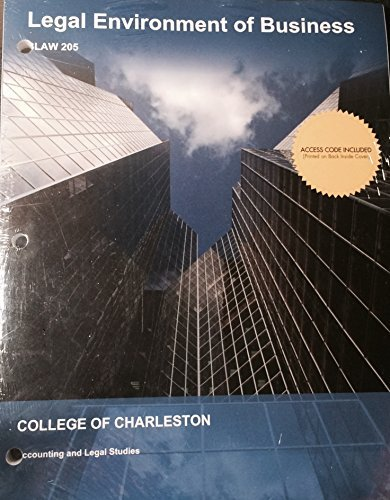 9781308132655: Legal Environment of Business College of Charleston