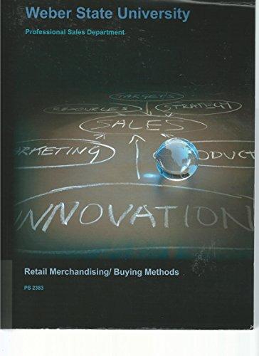 9781308139289: Retail Merchandising/Buying Methods