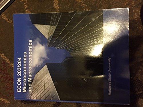 9781308145341: Econ 203/204 Microeconomics and Macroeconomics
