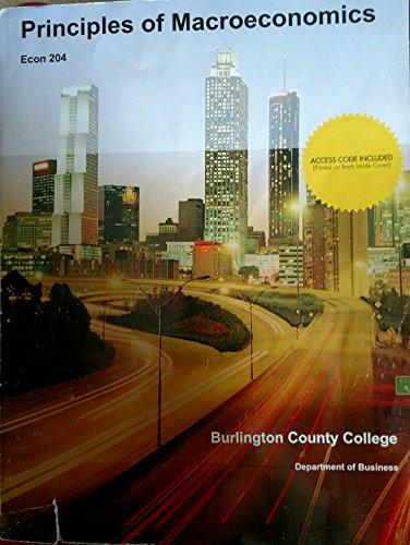 9781308157139: Principles of Macroeconomics (Burlington County College)