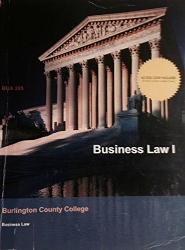 9781308168753: BCC Custom - Dynamic Business Law I w/CONNECT PLUS for BUA 205 Edition: 3rd