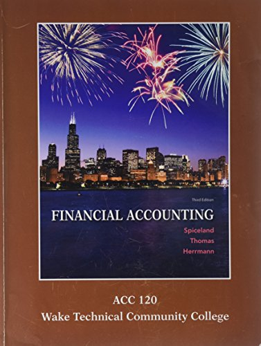 9781308168920: ACC 120 Wake Tech Financial Accounting w/Connect+ Access