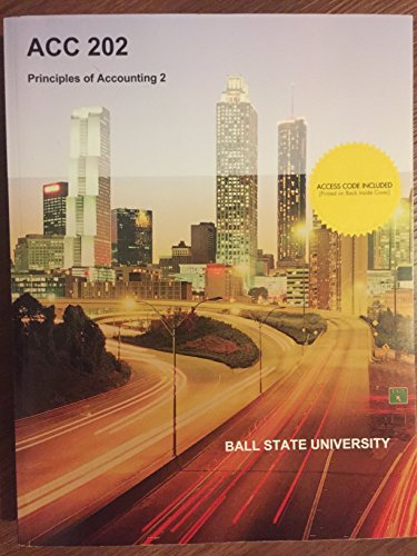 9781308193977: ACC 202 Principles of Accounting 2 Ball State University