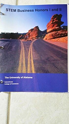 9781308208350: STEM Business Honor I and II The University of Alabama