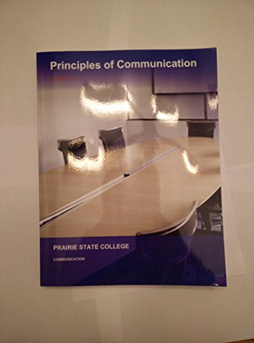 Principles of Communications Comm 101 Prairie State College 9781308209388: McGraw Hill Education