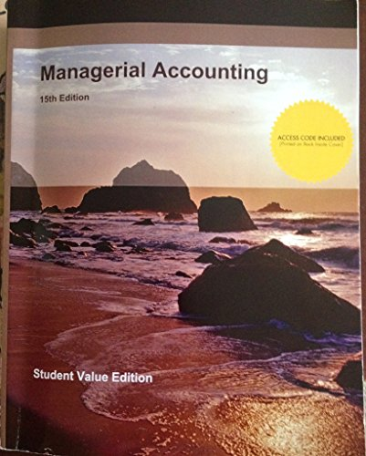 9781308224565: Managerial Accounting