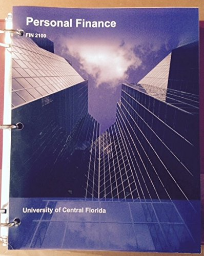 9781308231396: Personal Finance FIN 2100 University of Central Florida