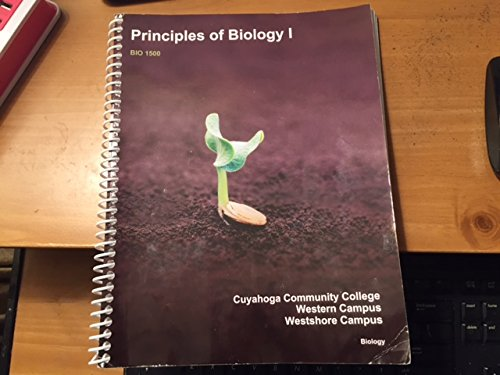 Principles of Biology I for Cuyahoga Community: McGraw Hill