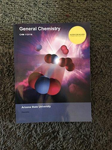 9781308252971: General Chemistry CHM 113/116 Arizona State University