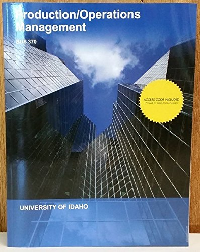 9781308274652: Production / Operations Management (Bus 370)