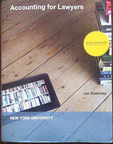 9781308277905: Accounting for Lawyers - New York University / NYU