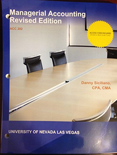 9781308381213: Managerial Accounting Revised Edition (UNLV)