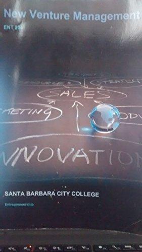 9781308552958: New Venture Management ENT 204 Santa Barbara City College Entrepreneurship