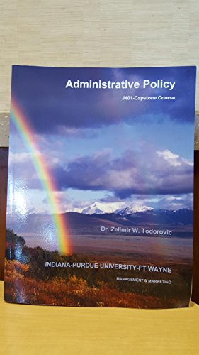 9781308677804: Administrative policy