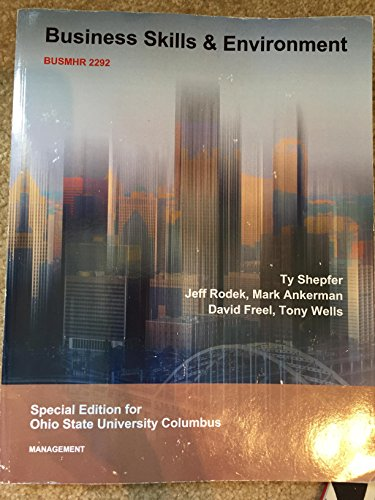 9781308722818: Business Skills and Environment BUSMHR 2292 Ohio State University