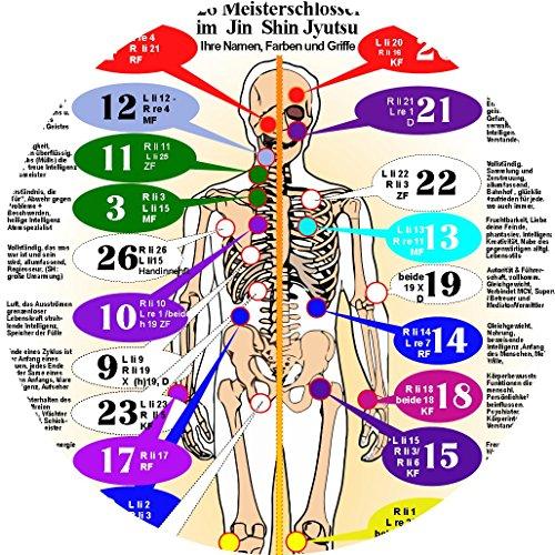9781310191930: Din A3 Poster Die verborgenen Farbwirkungen der 26 Jin Shin Jyutsu Vitalschlösser