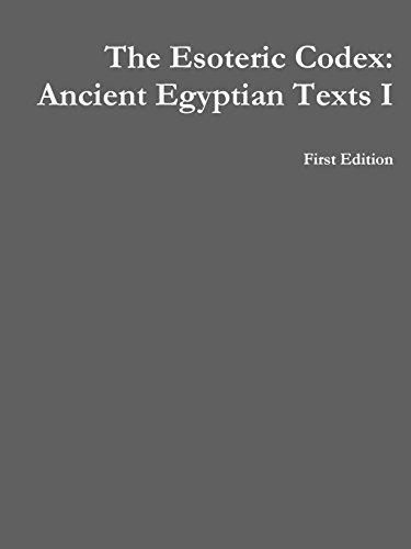 9781312114784: The Esoteric Codex: Ancient Egyptian Texts I