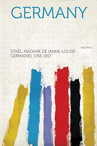 9781314033823: Germany Volume 1
