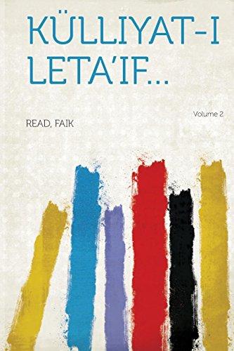 Kulliyat-I Leta'if. Volume 2 (Paperback)