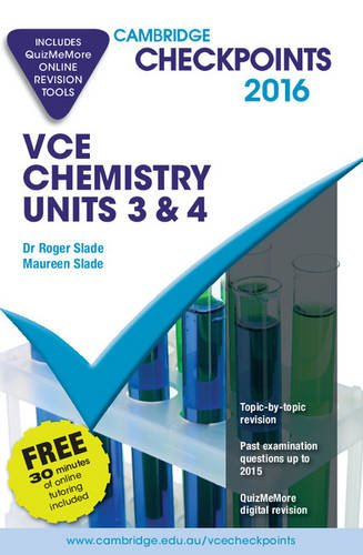 9781316501252: Cambridge Checkpoints VCE Chemistry Units 3 and 4 2016 and Quiz Me More