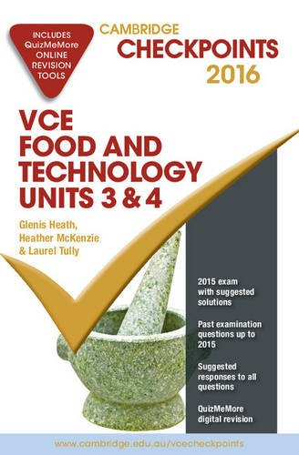 9781316505632: Cambridge Checkpoints VCE Food Technology Units 3 and 4 2016 and Quiz Me More