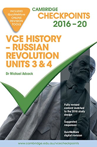 9781316505991: Cambridge Checkpoints VCE History - Russian Revolution 2016-18 and Quiz Me More