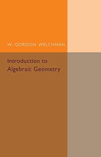 9781316601808: Introduction to Algebraic Geometry