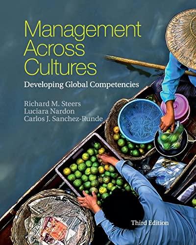 Management Across Cultures 3 Rev ed: Steers, Richard M.;nardon,