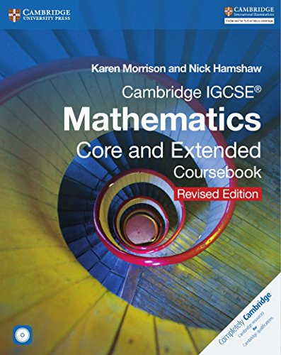 9781316605639: Cambridge IGCSE Mathematics core and extended coursebook. Con espansione online. Per le Scuole superiori. Con CD-ROM (Cambridge International IGCSE)