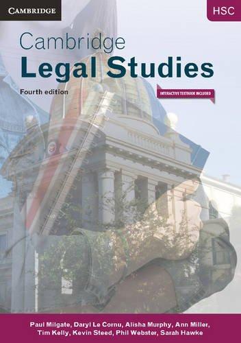 Cambridge HSC Legal Studies 4ed Pack (Textbook: Paul Milgate