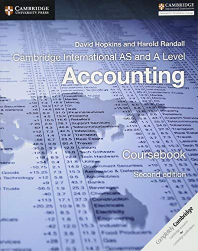 Cambridge International AS and A Level Accounting: Randall, Harold, Hopkins,