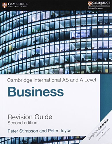 9781316611708: Cambridge International AS and A Level Business Revision Guide