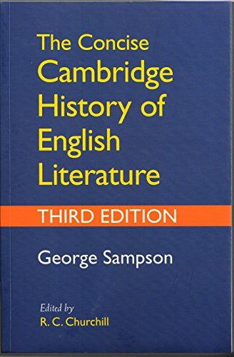 9781316616321: The Concise Cambridge History of English Literature, 3rd Edition