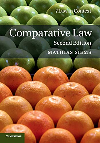 9781316633557: Comparative Law (Law in Context)