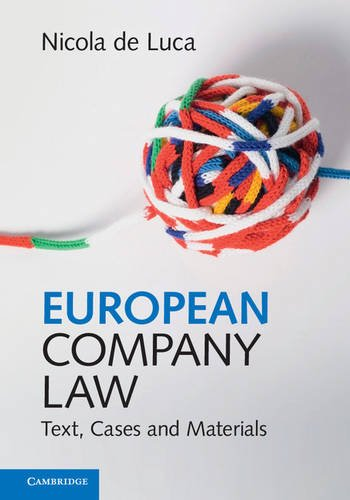 9781316635377: European Company Law: Text, Cases and Materials