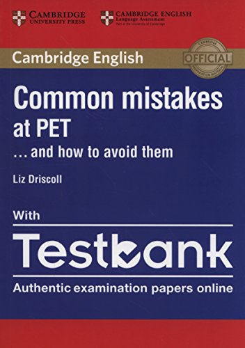 9781316635872: Common Mistakes at PET... and How to Avoid Them Paperback with Testbank