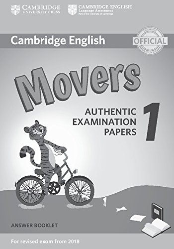 9781316635940: Cambridge English Movers 1 for Revised Exam from 2018 Answer Booklet: Authentic Examination Papers [Lingua inglese]