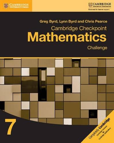 9781316637418: Cambridge Checkpoint Mathematics Challenge Workbook 7