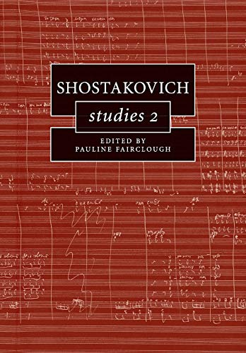 9781316638705: Shostakovich Studies 2 (Cambridge Composer Studies)