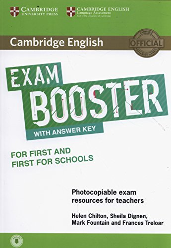 9781316648438: Cambridge English Exam Booster for First and First for Schools with Answer Key with Audio: Photocopiable Exam Resources for Teachers