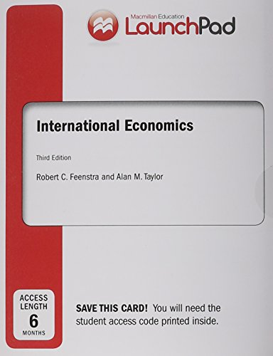 9781319001223: LaunchPad for International Economics (Six Month Access)