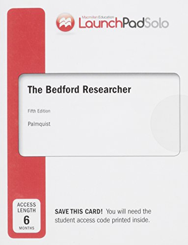 9781319008284: LaunchPad Solo for The Bedford Researcher (Six Month Access)
