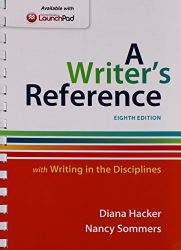 9781319009137: Writer's Reference with Writing in the Disciplines 8e & LaunchPad for A Writer's Reference 8e (One Year Access)
