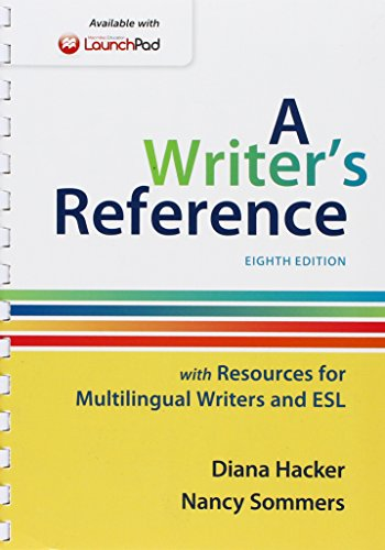 9781319009182: Writer's Reference with Resources for Multilingual Writers and ESL & LaunchPad for A Writer's Reference 8e (One Year Access)