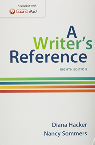 9781319009205: Writer's Reference 8e & Launchpad for a Writer's Reference 8e (One Year Access)