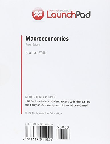 9781319011024: LaunchPad for Krugman's Macroeconomics (Six Month Access)