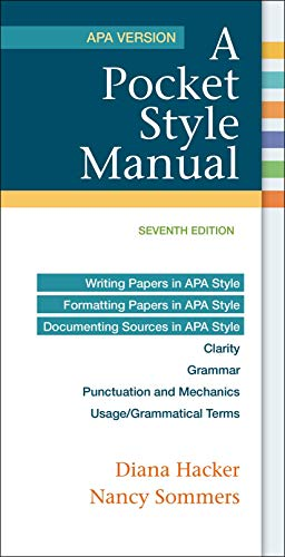 9781319011130  a pocket style manual  apa version - abebooks