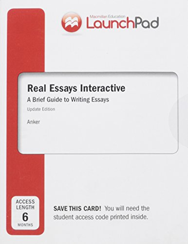 Launchpad For Real Essays Interactive Six Month   Launchpad For Real Essays Interactive Six Month Access